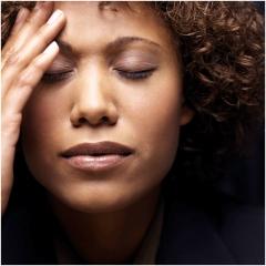 woman overwhelmed