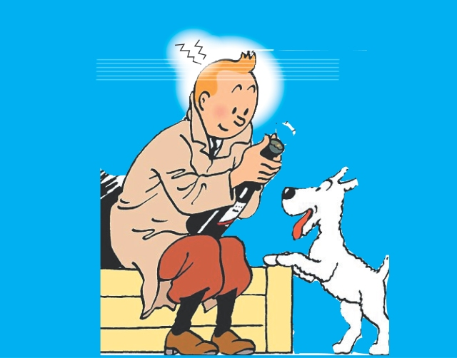 tintin sitting wine healing copy